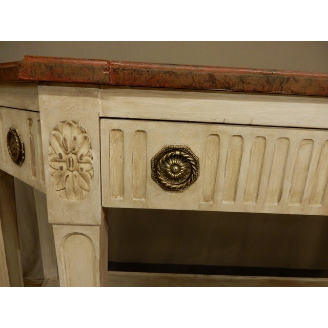 Early 19th C Painted Directoire' Console For Sale - Image 4 of 10