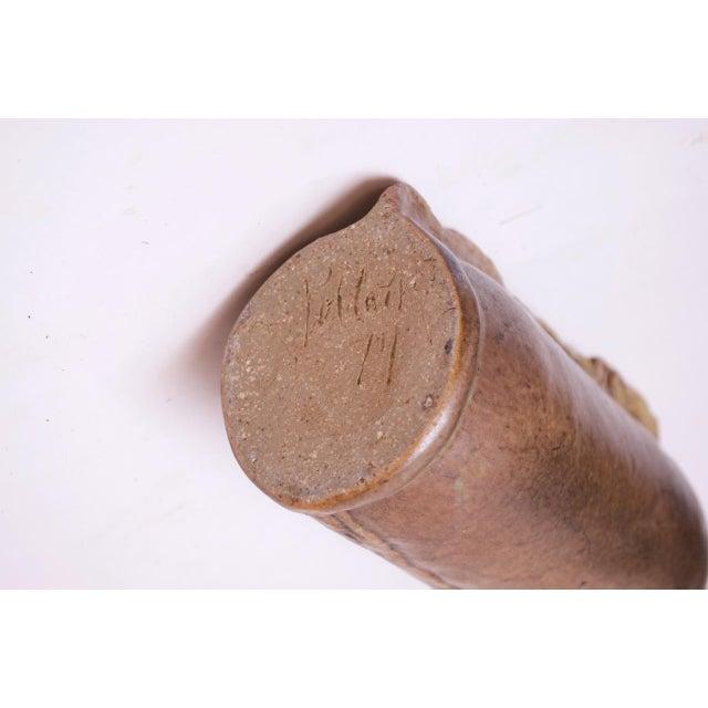 Studio Stoneware Vessel / Candleholder Signed Polk, 1974 For Sale - Image 12 of 13