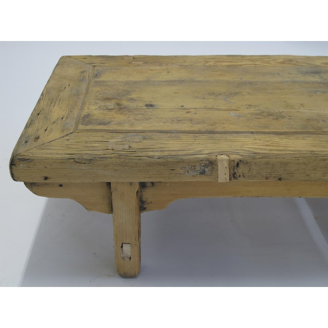 1940s Small Rustic Kang Accent Table or Coffee Table For Sale - Image 5 of 6