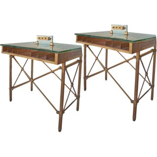 1920s Regency Style Bronze Bank Tables - Priced Individually For Sale