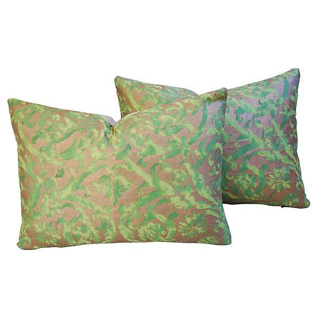 Designer Italian Fortuny Farnese Pillows - A Pair - Image 1 of 7
