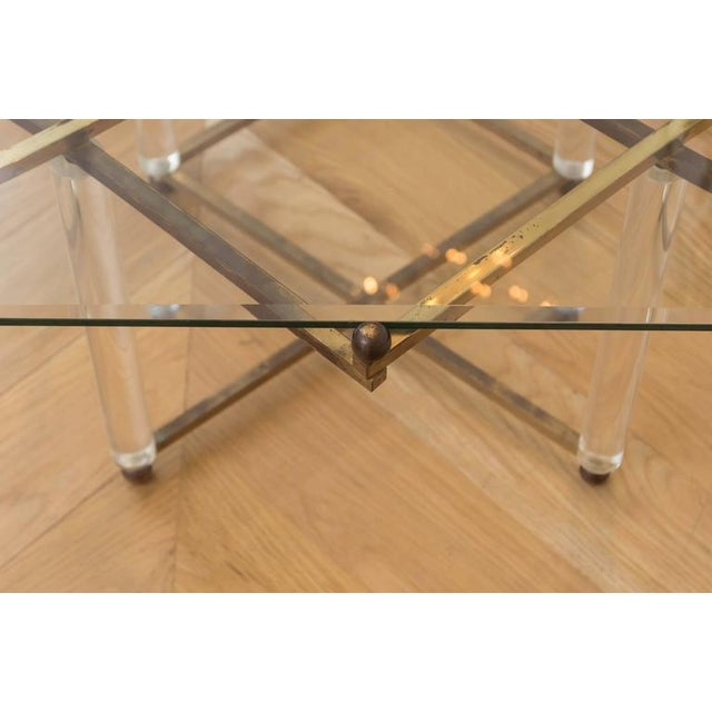 "Brass Charles Hollis Jones ""Treillage"" Cocktail Table For Sale - Image 7 of 8"