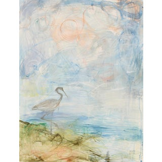 "Alex K. Mason ""Heron at Sunset"" Painting For Sale"