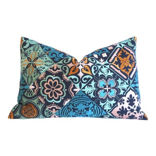 Osborne & Little Cervo Embroidered Pillow Cover: 16x24 For Sale