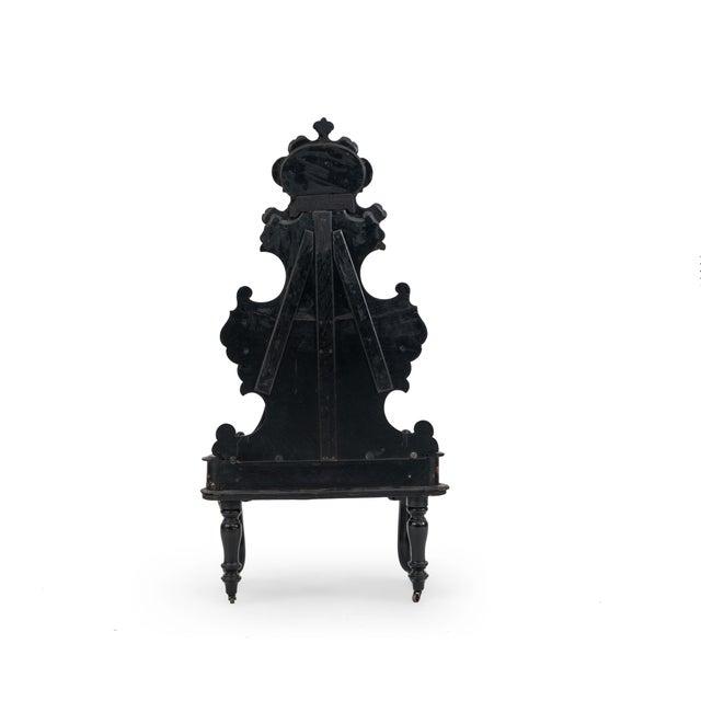 Black English Victorian Papier Mache Étagère For Sale - Image 8 of 9