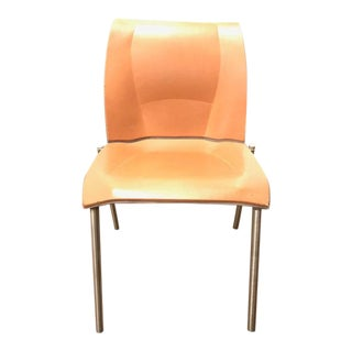Frank Gehry Brown Leather Fog Chair