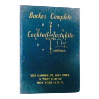 1936 Vintage Burke's Complete Cocktail & Drinking Recipes For Sale