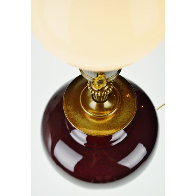 Vintage E. F. Chapman Style Torchiere Table Lamp With Diffuser For Sale - Image 4 of 13