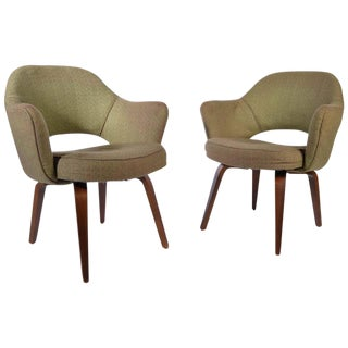 2 Eero Saarinen Bentwood Executive Armchairs for Knoll-Series 71 For Sale