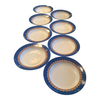 Lalique Soleil Large Deep Platters-Set of 8