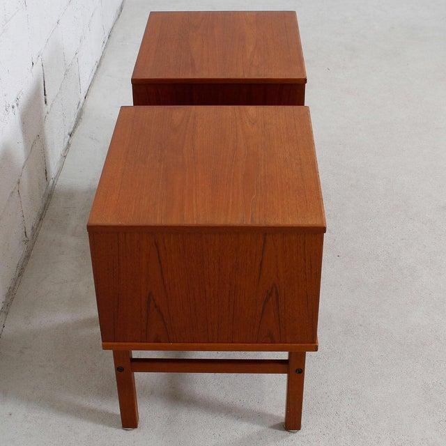 Torring Danish Modern Teak Nightstands/Side Tables - a Pair - Image 5 of 8