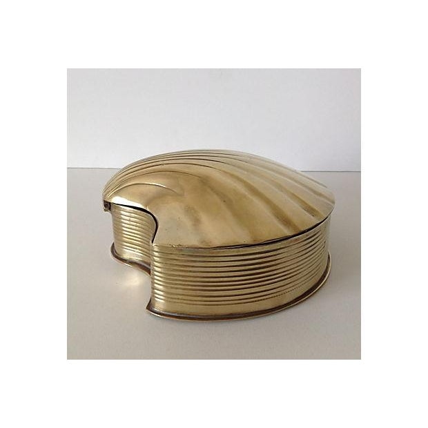 Brass Fanned Shell-Shaped Keepsake Box - Image 6 of 8