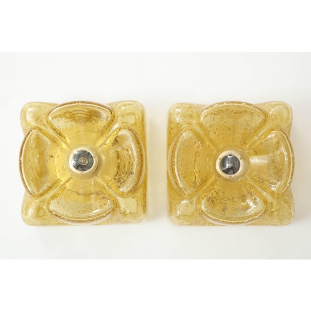 Pair of Amber Glass Sconces by Doria For Sale In New York - Image 6 of 11