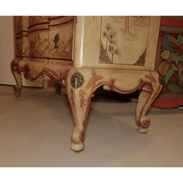 Chinoiserie Paint Decorated Sink Vanity For Sale In West Palm - Image 6 of 13