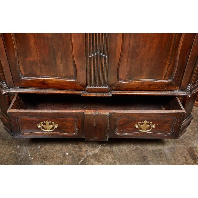 18th Century Danish Louis XVI Pine Two-Door Cabinet For Sale - Image 9 of 10
