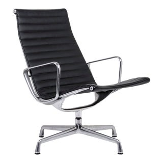 Herman Miller Eames Aluminum Group Lounge Chair For Sale