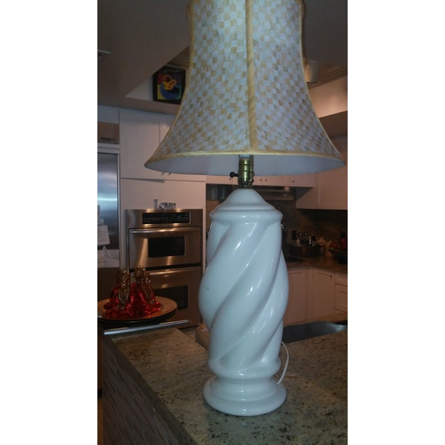 Mackenzie childs vintage blanc de chine lamps 2 image 3 of 8