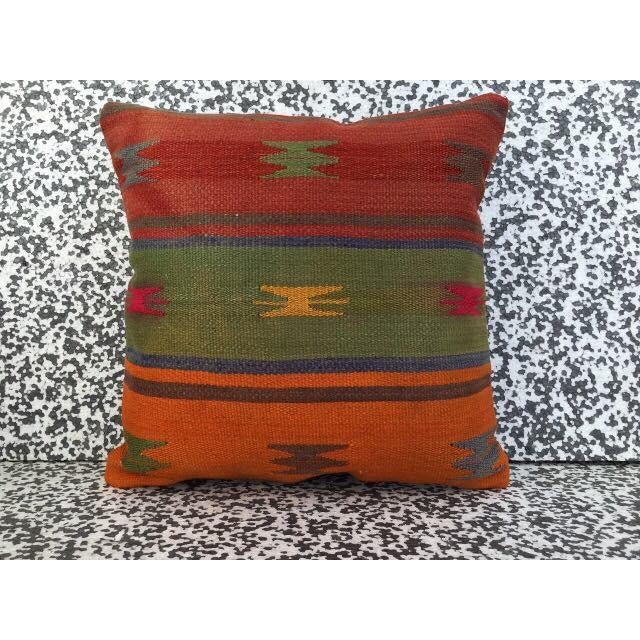 Turkish Kilim Pillow Cover - Image 2 of 5