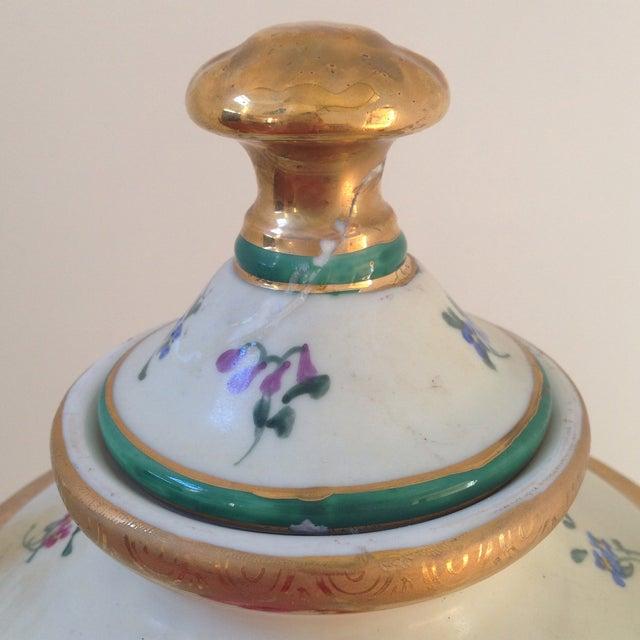 Floral Porcelain Urns - A Pair For Sale - Image 9 of 11