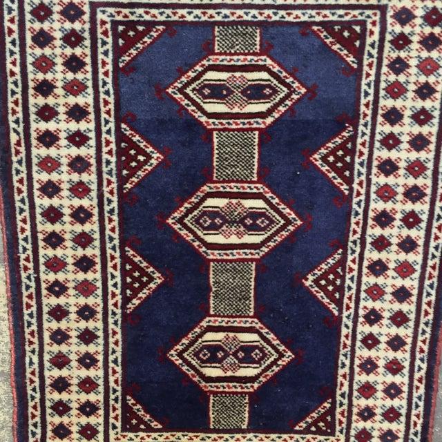 "Turkaman Handmade Persian Rug - 2'1"" X 2'8"" - Image 3 of 9"