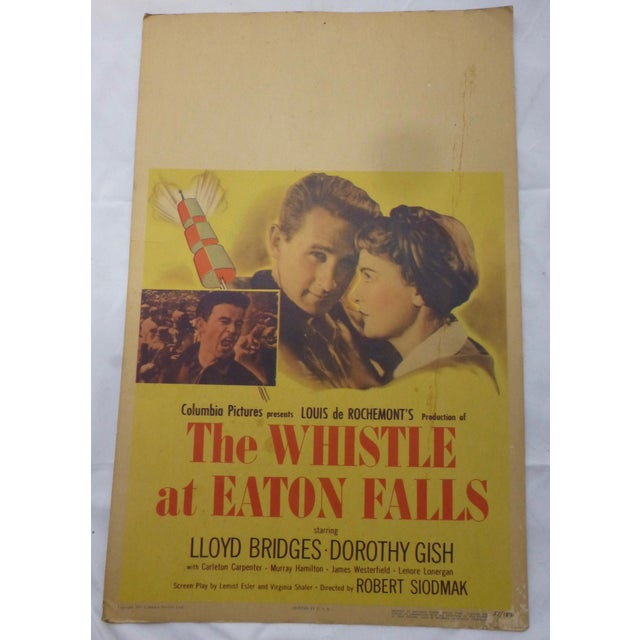 1951 lobby card of handsome Lloyd Bridges in The Whistle at Eaton Falls. A newly promoted plant supervisor finds himself...