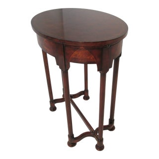 1980s Theodore Alexander Georgian Oval Table For Sale