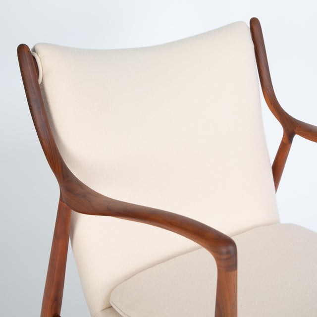 """White Pair of Finn Juhl """"45"""" Chairs for Baker Furniture, Circa 1960s For Sale - Image 8 of 13"""