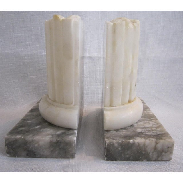 Neoclassical Marble Bookends - Pair - Image 3 of 5