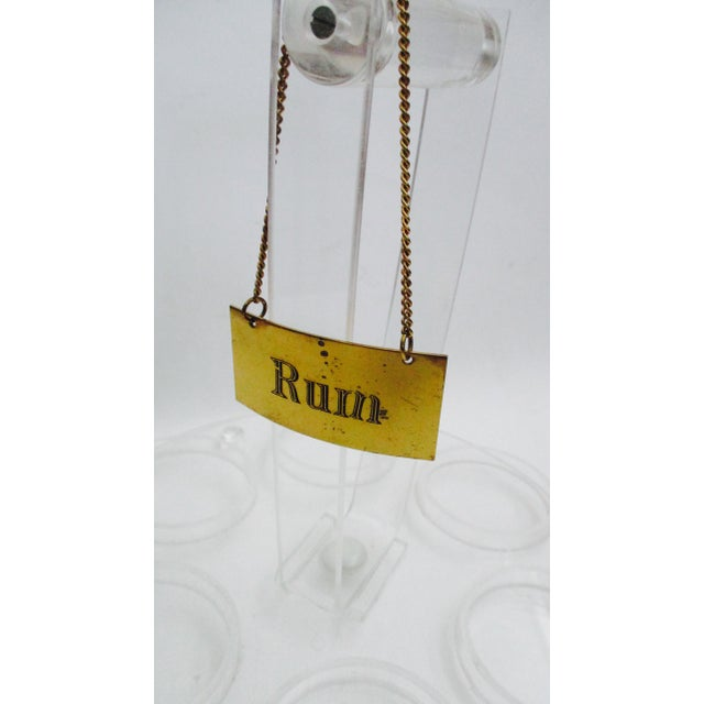 Italian Brass Liquor Tags Labels - Set of 4 For Sale In Phoenix - Image 6 of 11