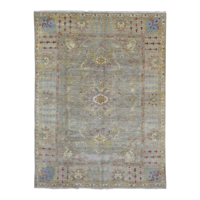 """Peshawar Hand Knotted Oriental Area Rug - 7'7""""x10' For Sale"""