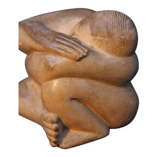 Stone Sculpture by Bruno Lebel, Winner of the 1958 Rome Sculpture Grand Prize For Sale