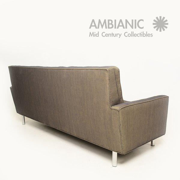 Mid-Century Modern Mid-Century Modern Sofa After Florence Knoll For Sale - Image 3 of 10