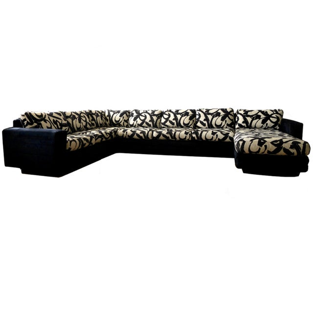 Abstract Patterned Secional Sofa by Directional - Image 1 of 8