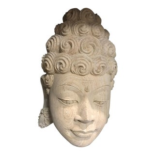 Vintage Stone Buddha Head For Sale