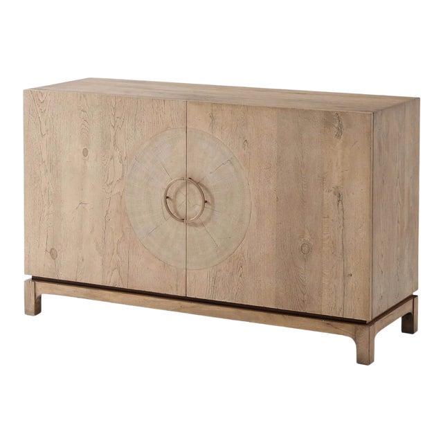 Mid Century Oak Cabinet For Sale