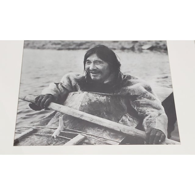 "Vintage ""Eskimo"" Framed Photograph by the Education Development Center C.1967 For Sale - Image 4 of 8"