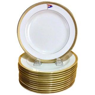 Cauldon First Class Steamship or Yacht Dessert Plates - Set of 12