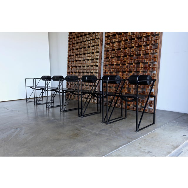 "Alias 1982 ""Seconda 602"" Armchairs by Architect Mario Botta for Alias - Set of 6 For Sale - Image 4 of 13"