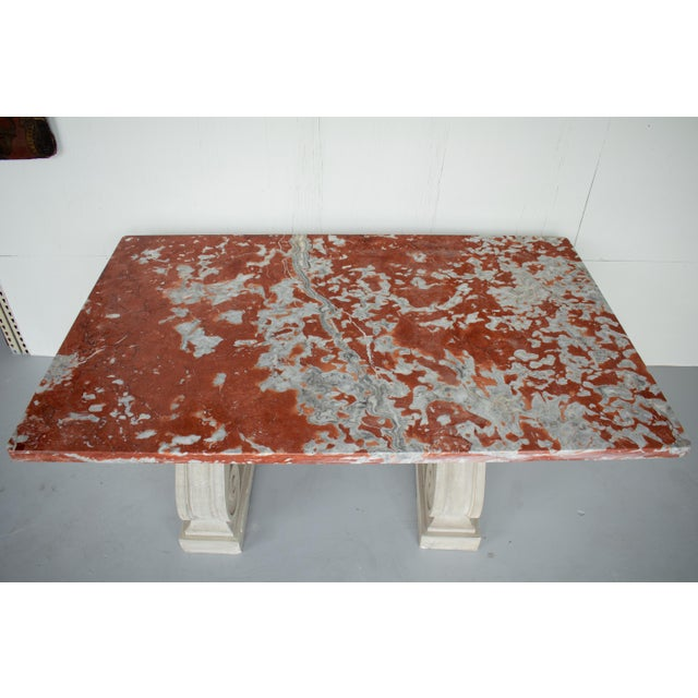 Vintage Mid Century French Marble-Top Center Table For Sale In Orlando - Image 6 of 12