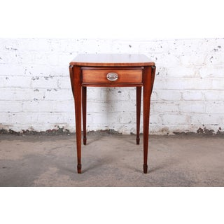 Ethan Allen Georgian Style Banded Mahogany Pembroke Side Table Preview
