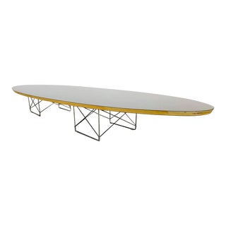 1960s Herman Miller Charles & Ray Eames Mid Century Modern Black Top Elliptical Coffee Table For Sale