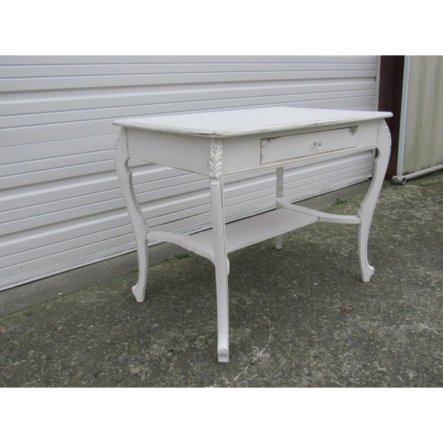 Vintage French Shabby Chic Style Desk - Image 3 of 7