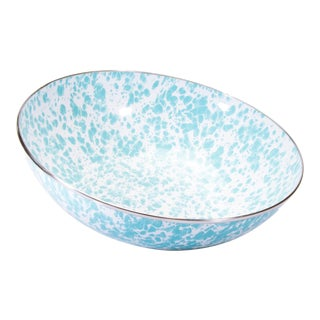Catering Bowl Sea Glass Swirl - 5 qts. For Sale