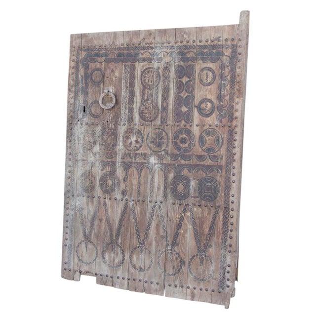 19th Century Tribal Cedar Door For Sale - Image 4 of 8