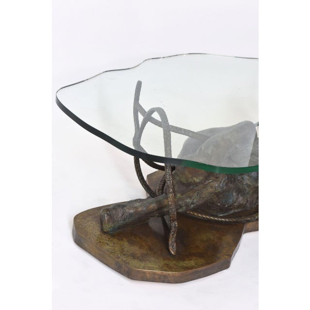 Bronze Rare and Important Phillip and Kelvin Laverne Bronze Table For Sale - Image 7 of 8