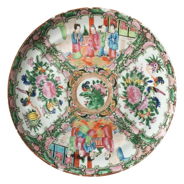 Rose Medallion Plate For Sale
