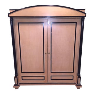 Art Deco Oak Armoire For Sale