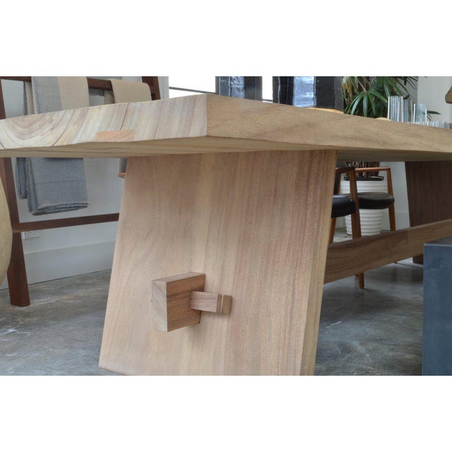 Not Yet Made - Made To Order OZ|Shop Monkey Pod Campaign Dining Table For Sale - Image 5 of 6