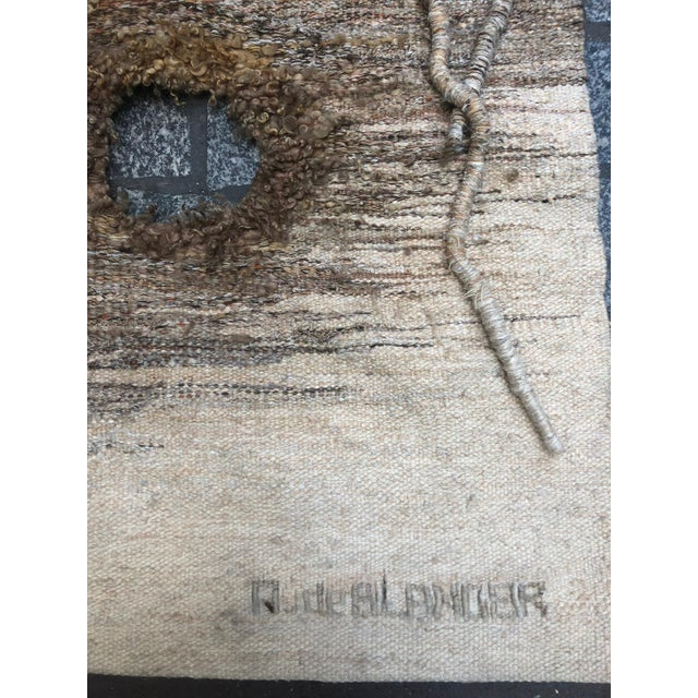 """Abstract Contemporary Tapestry by Anne De Blander, """"Timanfaya"""" For Sale - Image 3 of 5"""
