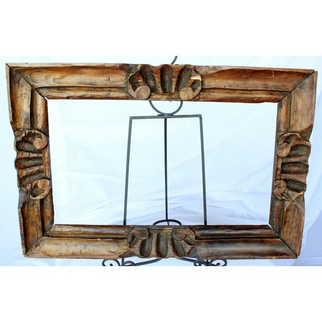 Hand Carved Picture Frame - Image 2 of 3